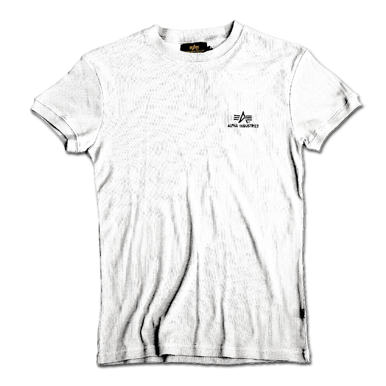 T-Shirt Alpha Industries Sport Rib weiß