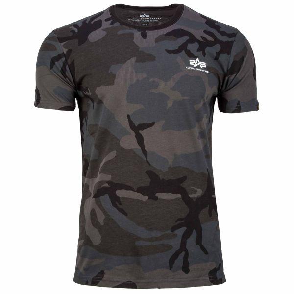 Alpha Industries T-Shirt Basic Small Logo black camo