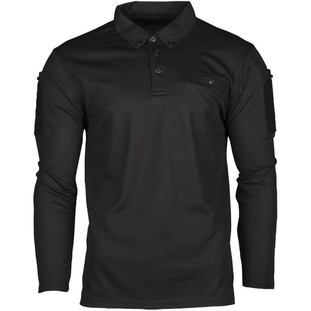Mil-Tec Tactical Quick Dry Poloshirt schwarz