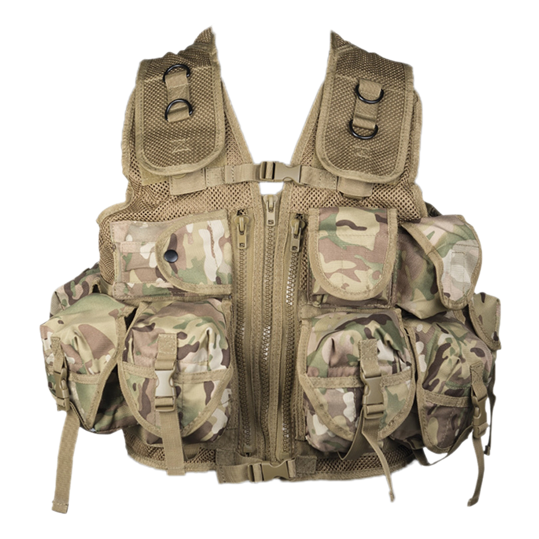 Einsatzweste Tactical Mil-Tec multitarn