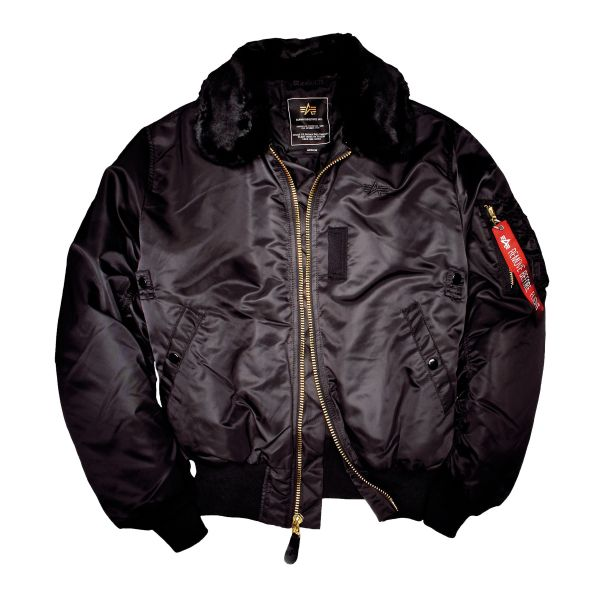 Alpha Industries Fliegerjacke B 15 schwarz