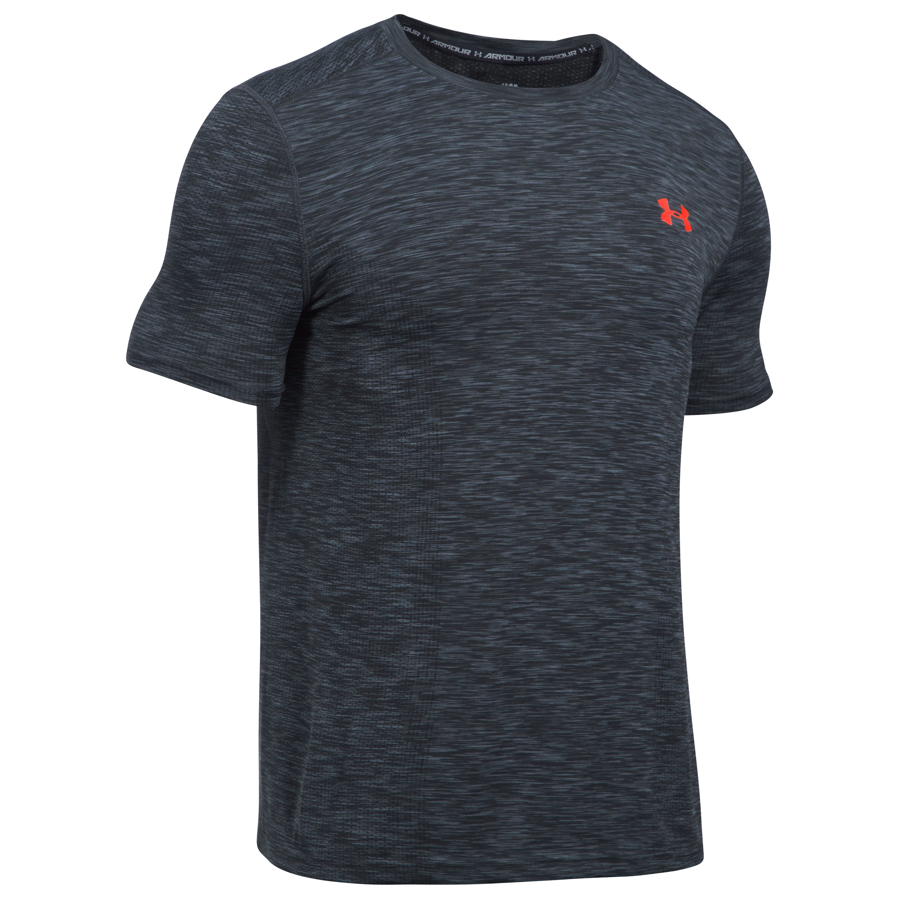 Under Armour Fitness Shirt Threadborne grau rot