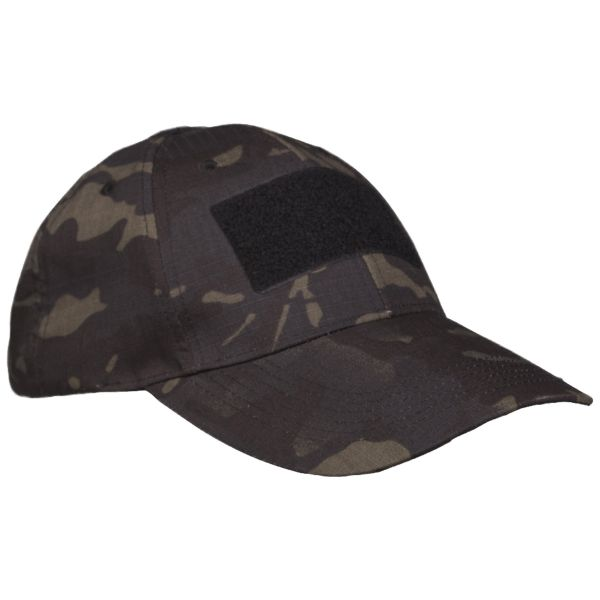 Tactical Baseball Cap multitarn schwarz