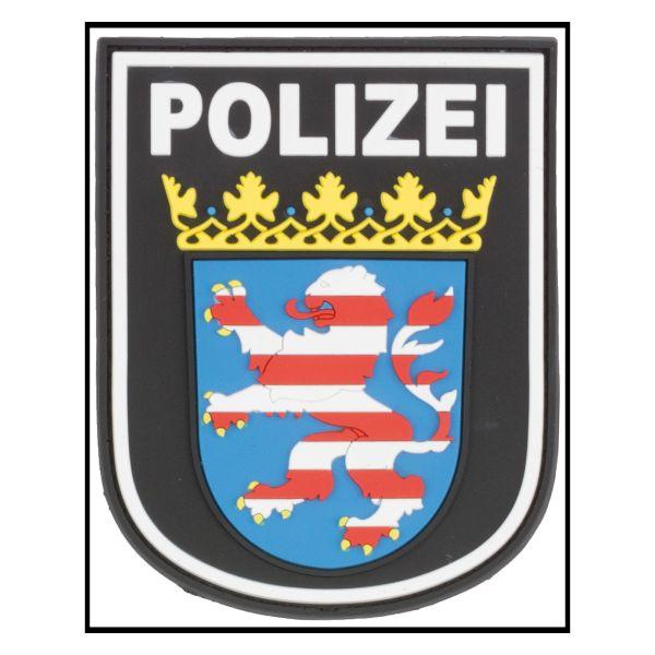3D-Patch Ärmelabzeichen Polizei Hessen schwarz