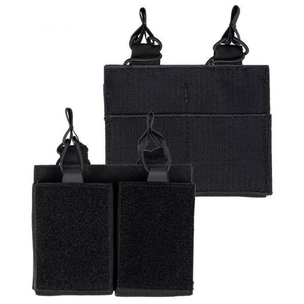 Mil-Tec Magazintasche Double mit Klettrücken schwarz
