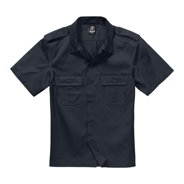 Brandit Shirt US halbarm schwarz