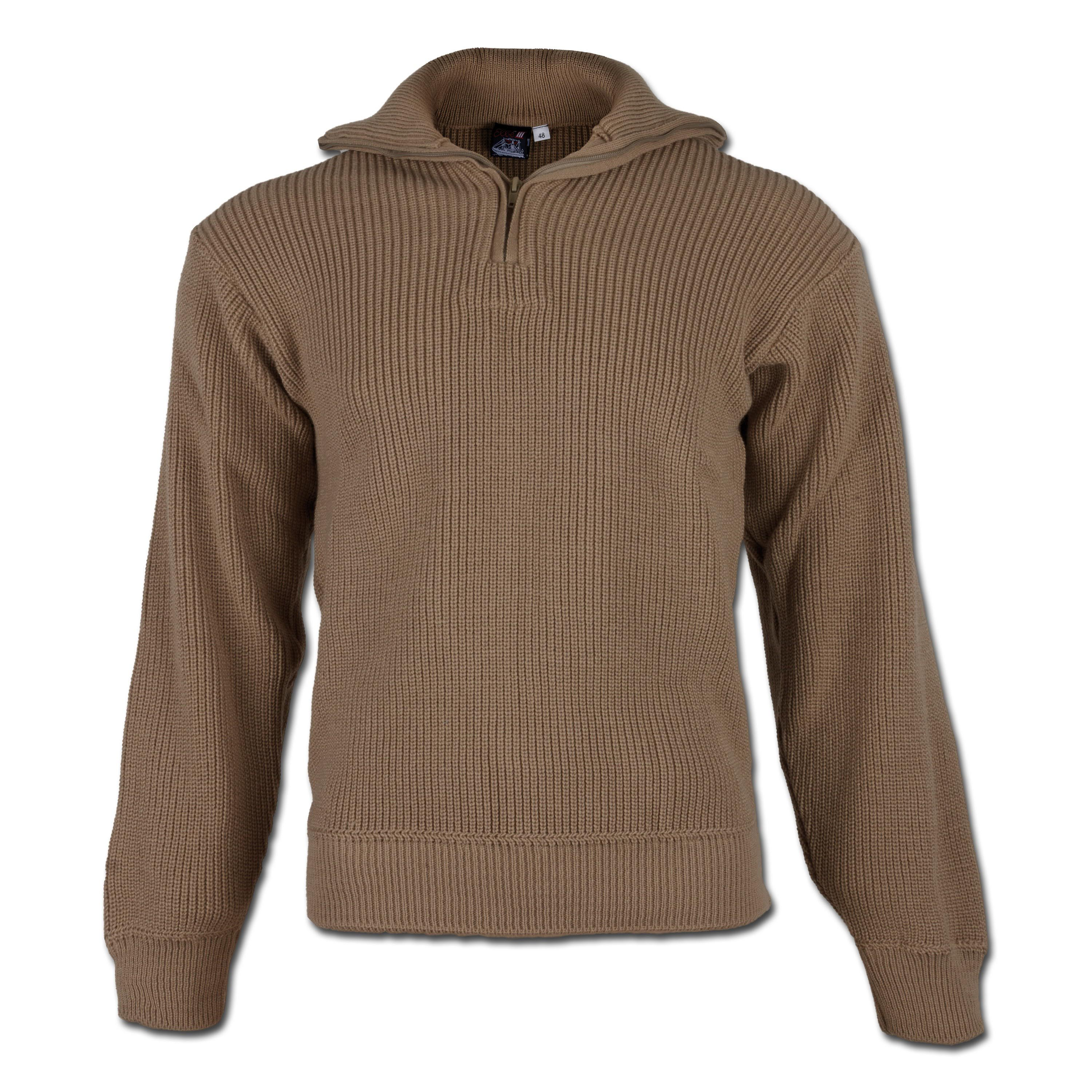 Pullover Troyer Acryl coyote