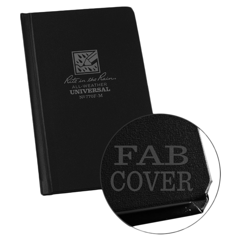 Rite in the Rain Hardcover Notizbuch schwarz Nr. 770F-M