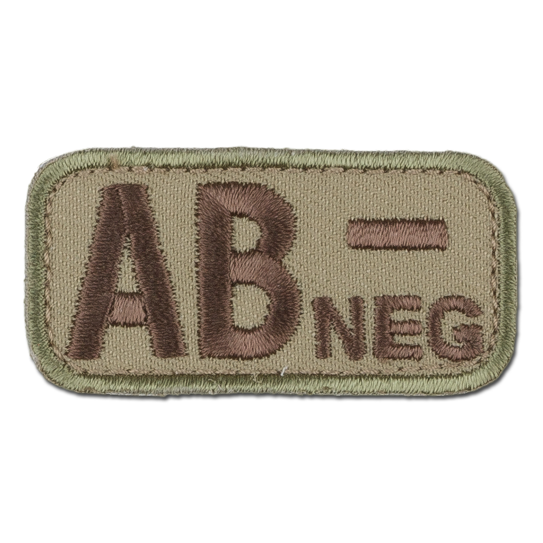 MilSpecMonkey Patch Blutgruppe AB Neg multicam
