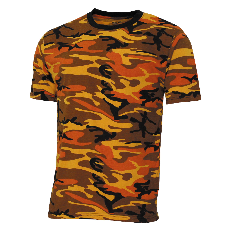 MFH T-Shirt US Streetstyle orange-camo