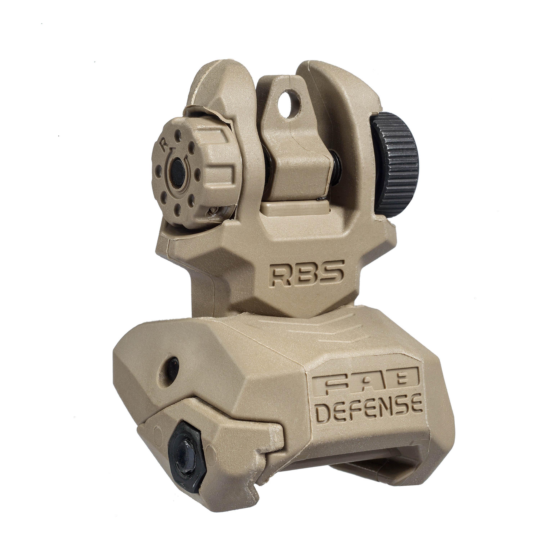 FAB Defense RBS Flip Up Sight TAN