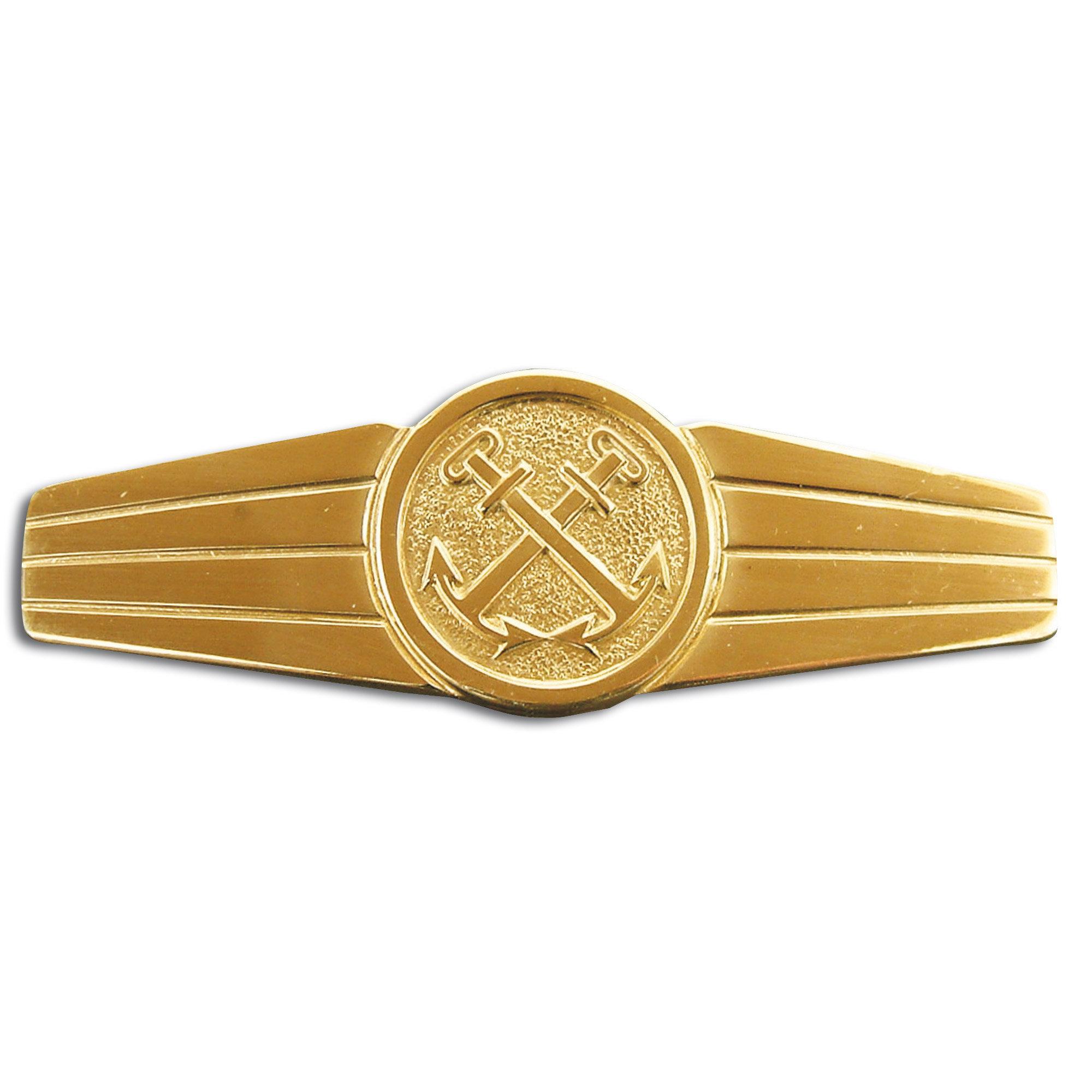 Abzeichen BW Marinedienstpersonal Metall gold