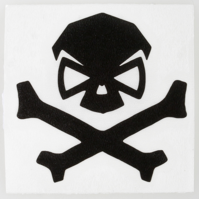 Pipe Hitters Union Skull & Bones Aufkleber klein schwarz