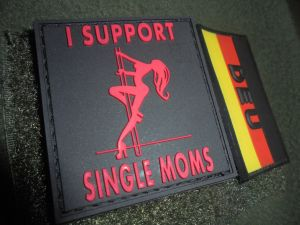 I support single moms-Patch(Rot)