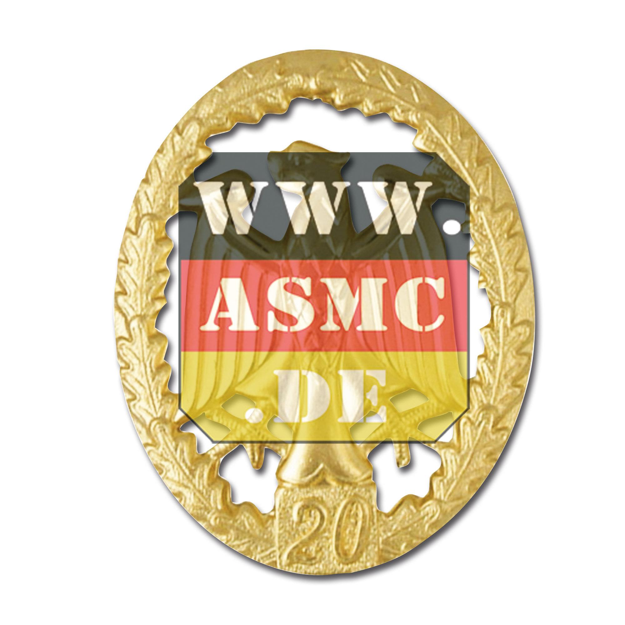 Leistungsabzeichen Metall gold Zahl 20