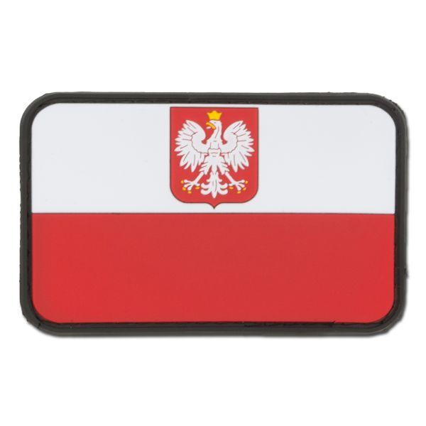 3D Patch Flagge Polen mit Wappen fullcolor