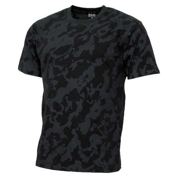 MFH T-Shirt US Streetstyle night camo