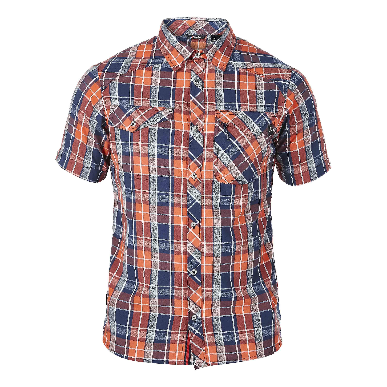 Berghaus Shirt Explorer ECO SS rot-blau-kariert
