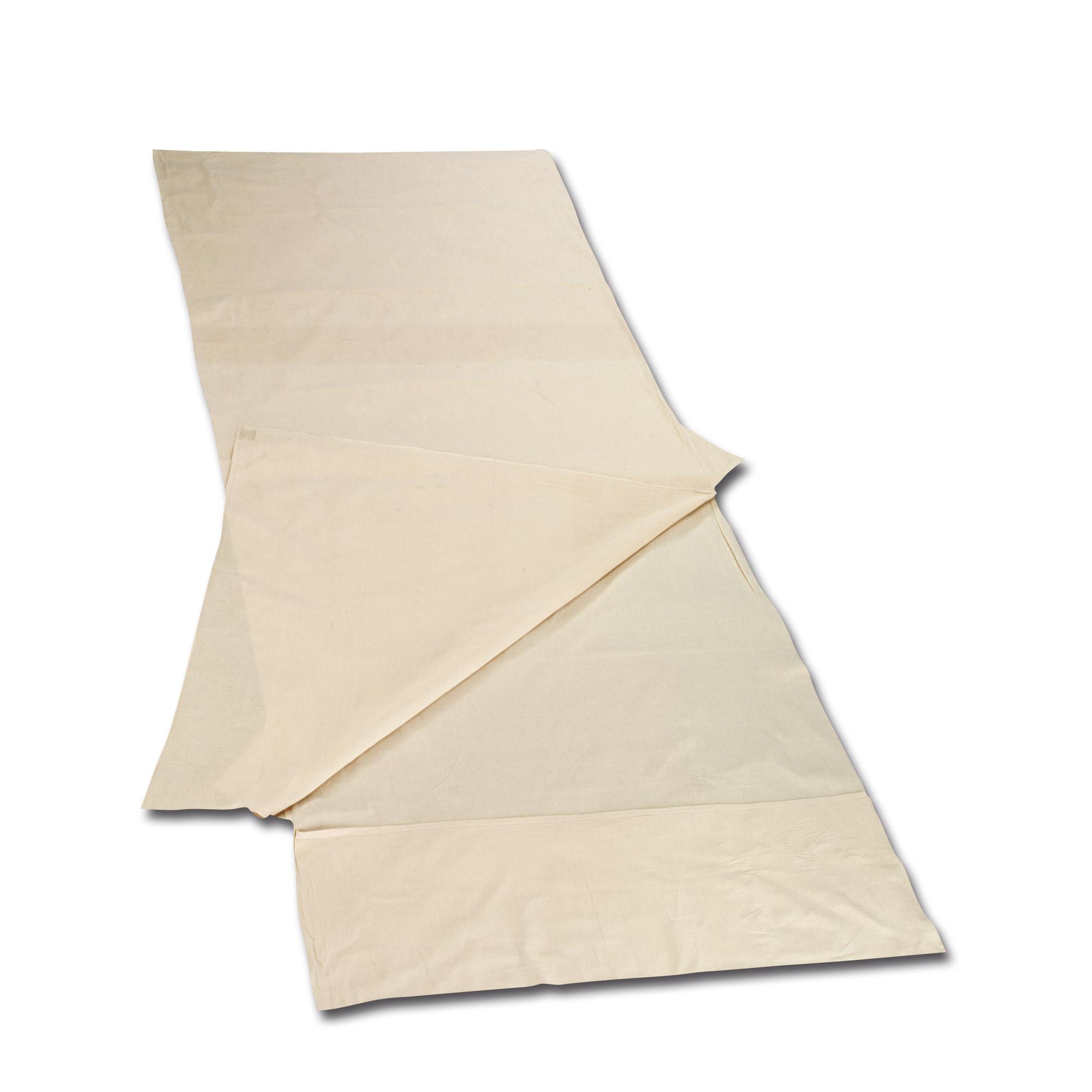Schlafsack Inlett Baumwolle Deckenform