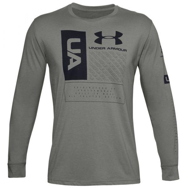 Under Armour Shirt Multi Logo LS gravity green