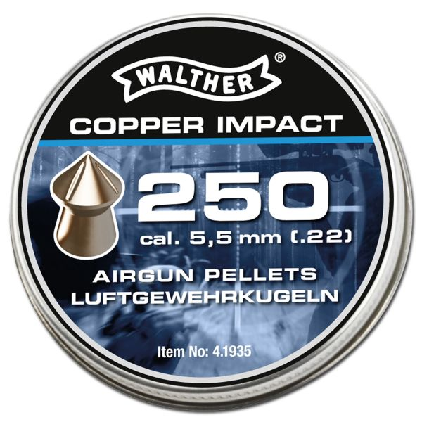 Walther Diabolos Spitzkopf Copper Impact 5.5 mm 5 X 250 St.