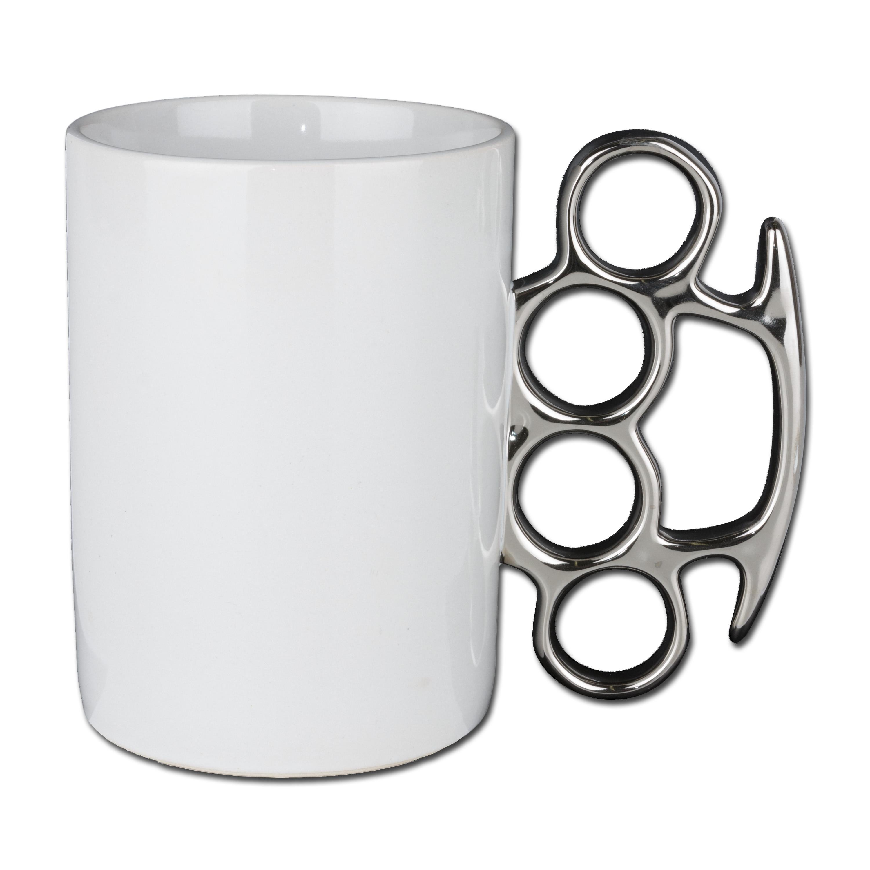 Schlagring Kaffeebecher 300 ml weiß