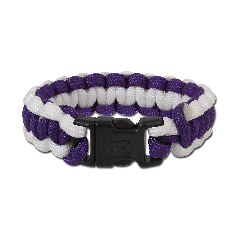 Paracord Survial Armband Rothco lila/weiß