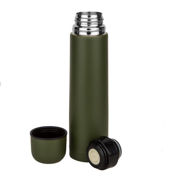 Vakuum Thermoflasche MFH 1 L oliv