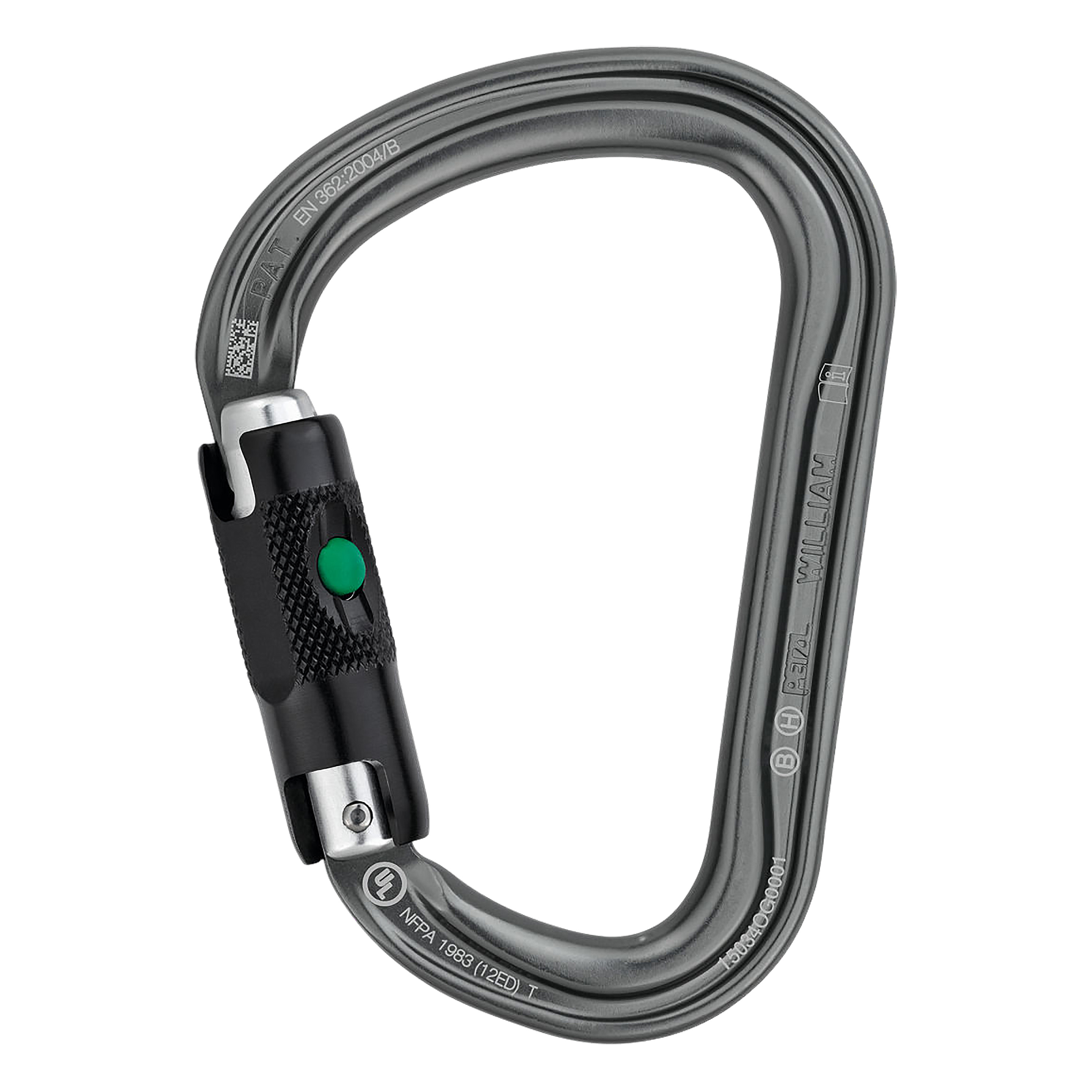 Petzl Karabiner William Ball Lock grau