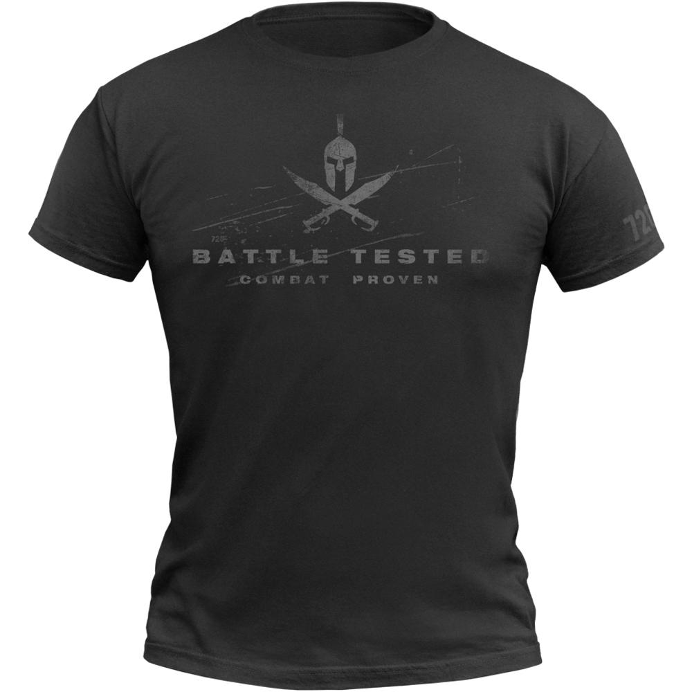 720gear T-Shirt Battle Tested schwarz