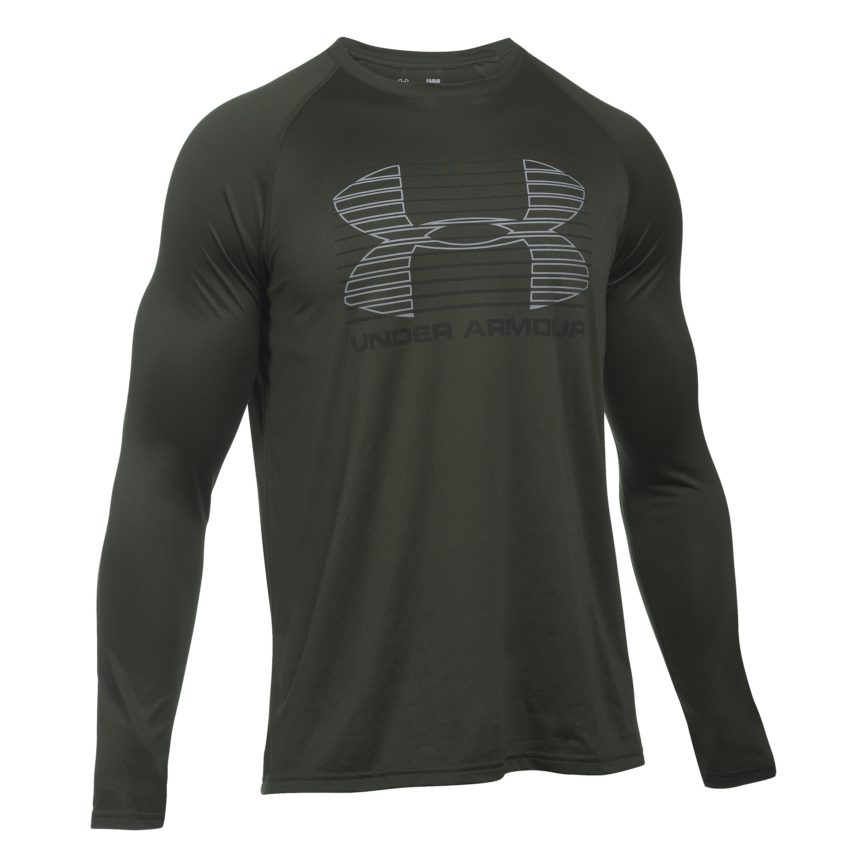 Under Armour Langarmshirt Tech Rise Up Sportstyle oliv