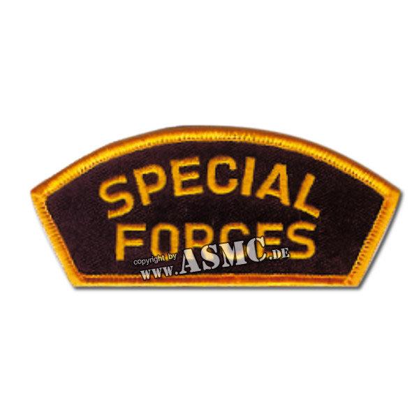 Abzeichen Special Forces Cap schwarz-gold
