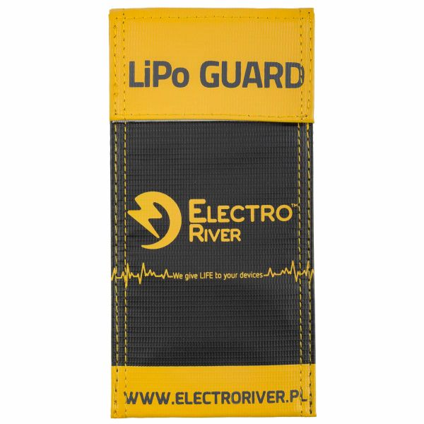 Electro River Sicherheitstasche Li-Po Safety Bag-S schwarz gelb