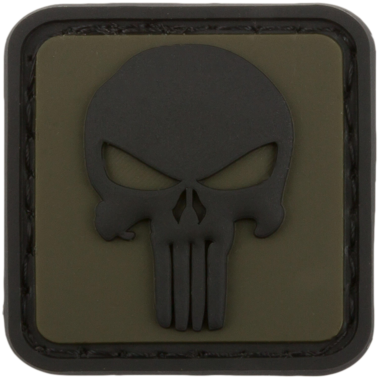 3D Patch Punisher Skull oliv
