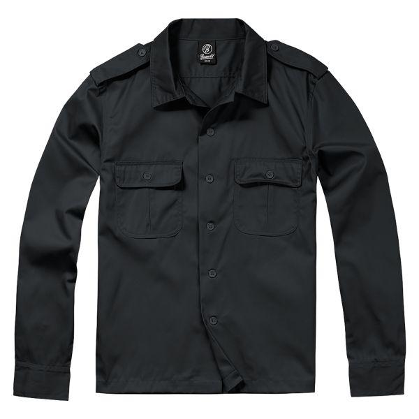 Brandit US Hemd 1/1 Arm schwarz