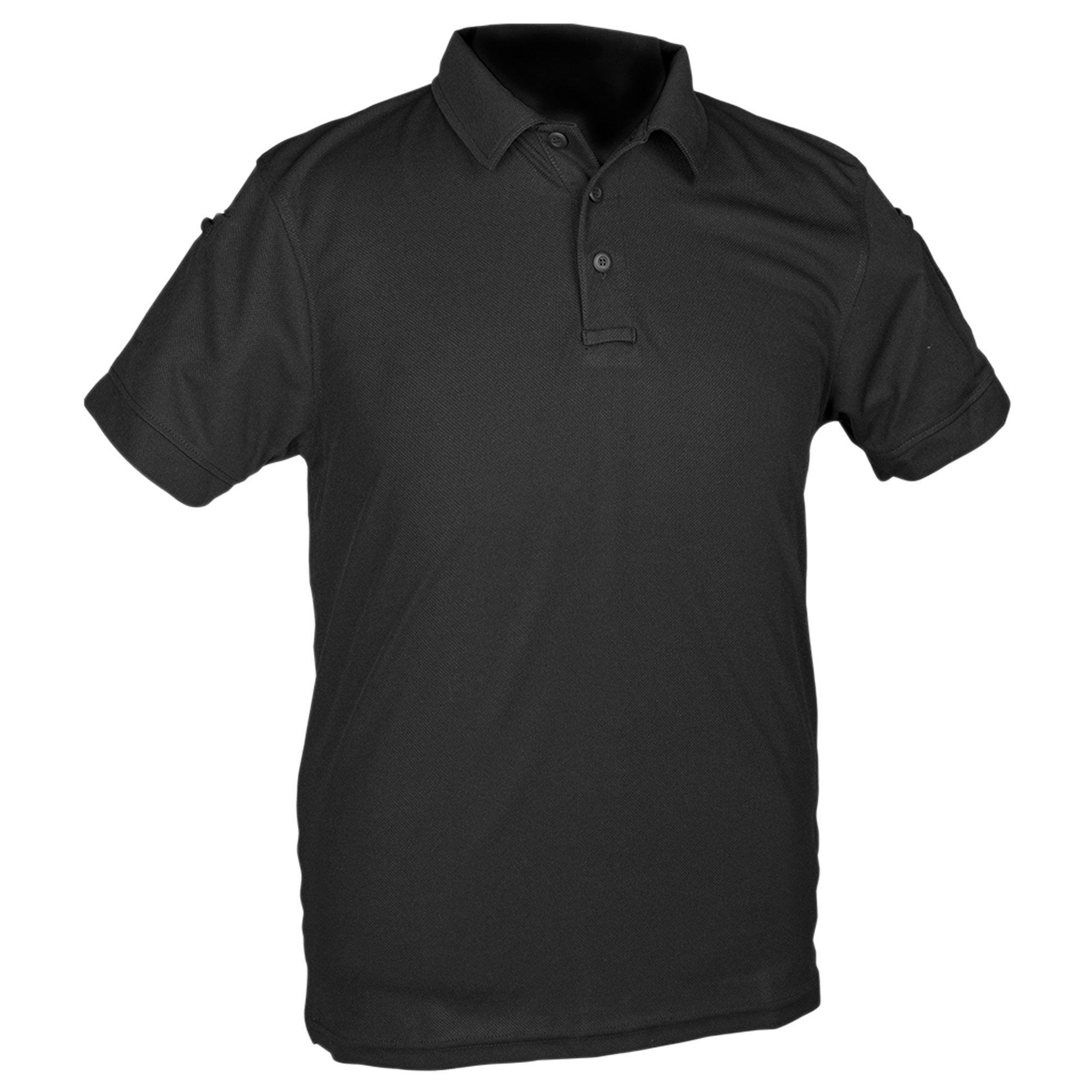 Poloshirt Tactical Quickdry schwarz