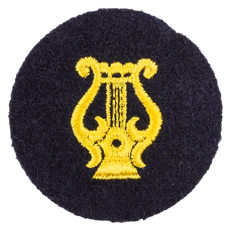 NVA Laufbahnabzeichen VM Militärmusikdienst blau