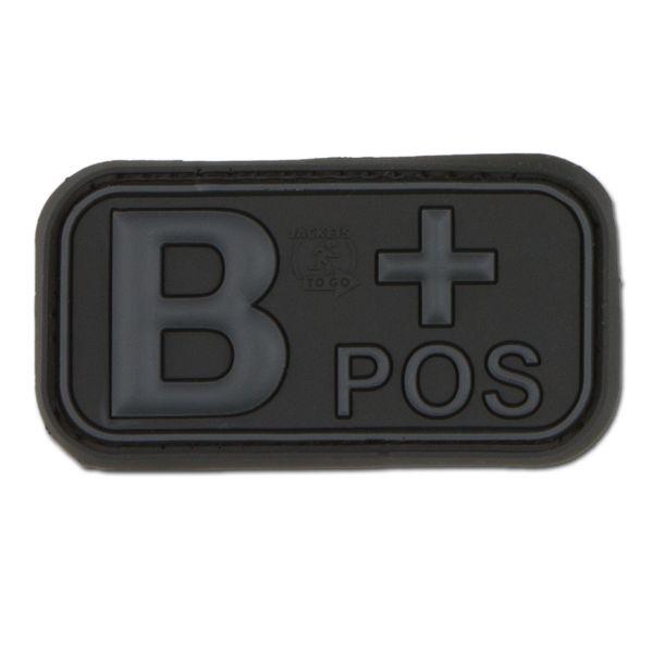 3D Blutgruppenpatch B Pos blackops