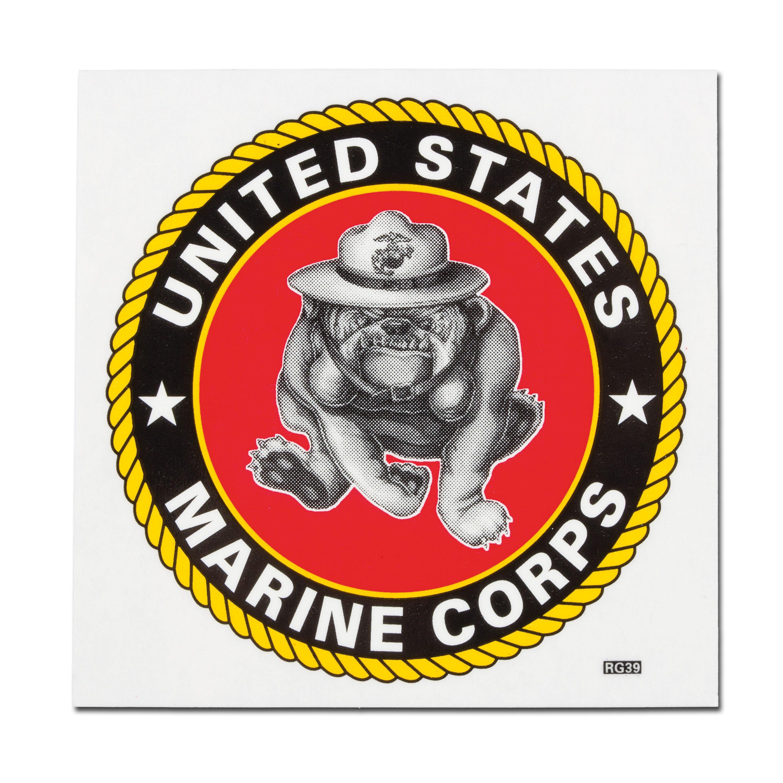 Sticker USMC Bulldogge