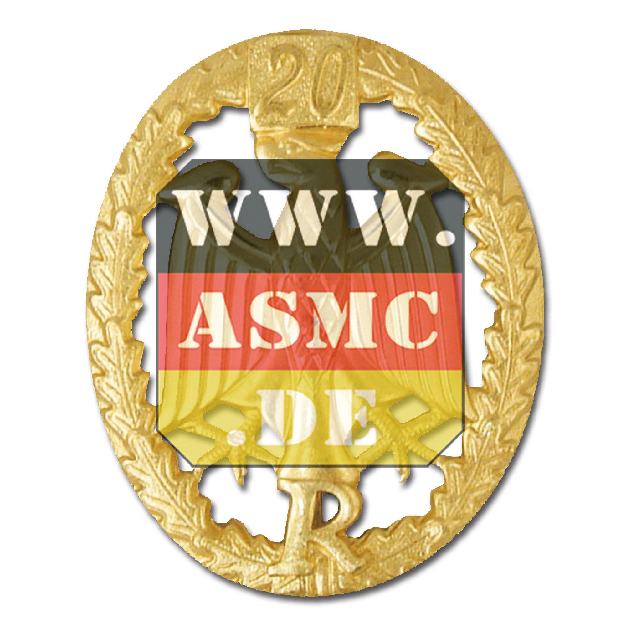 Leistungsabzeichen Reservisten Metall gold Zahl 20