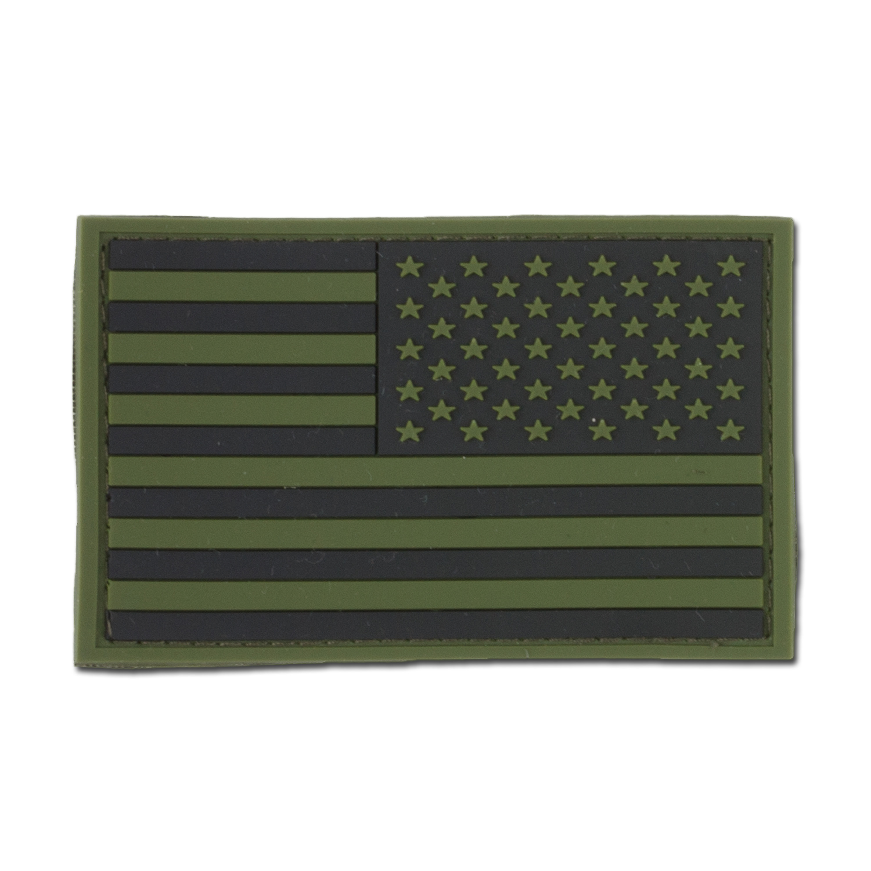 3D-Patch USA Fahne big oliv