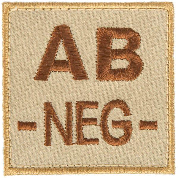 T.O.E Blutgruppenpatch Blutgruppe AB negativ sand