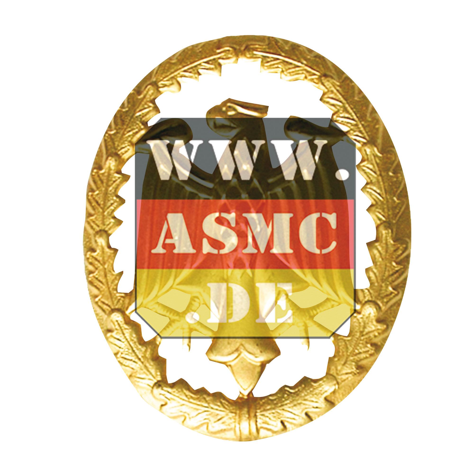 Leistungsabzeichen Metall gold