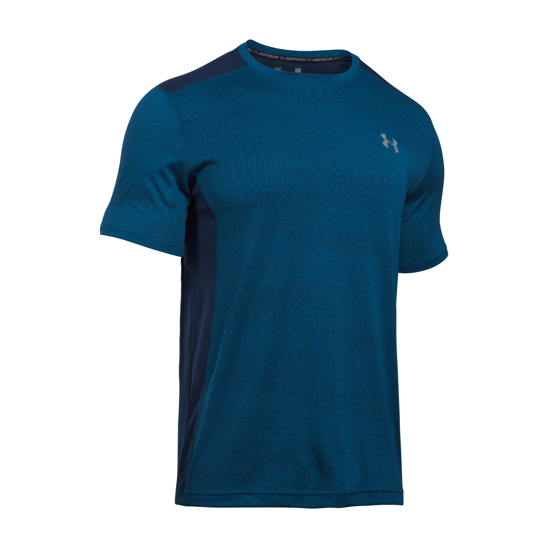 Under Armour Fitness T-Shirt Raid Jacquard SS blau