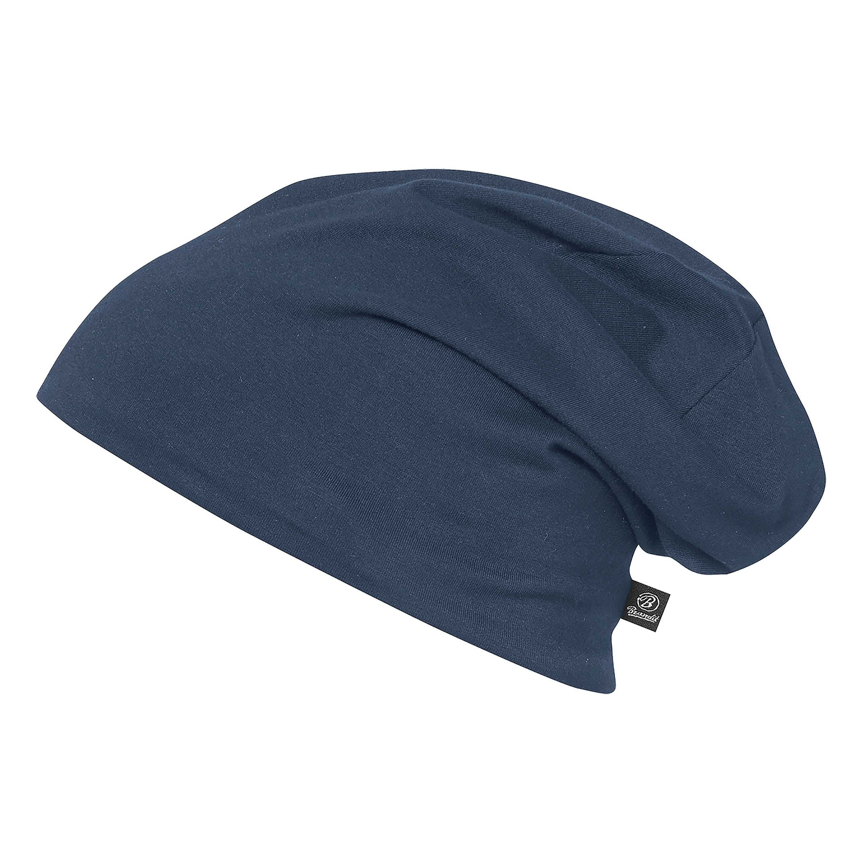 Brandit Beanie Jersey bicolor blau grau