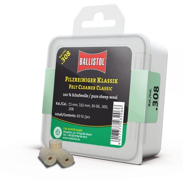 Ballistol Reinigungspfropfen Filz Klassik Kal. .308 60 Stück