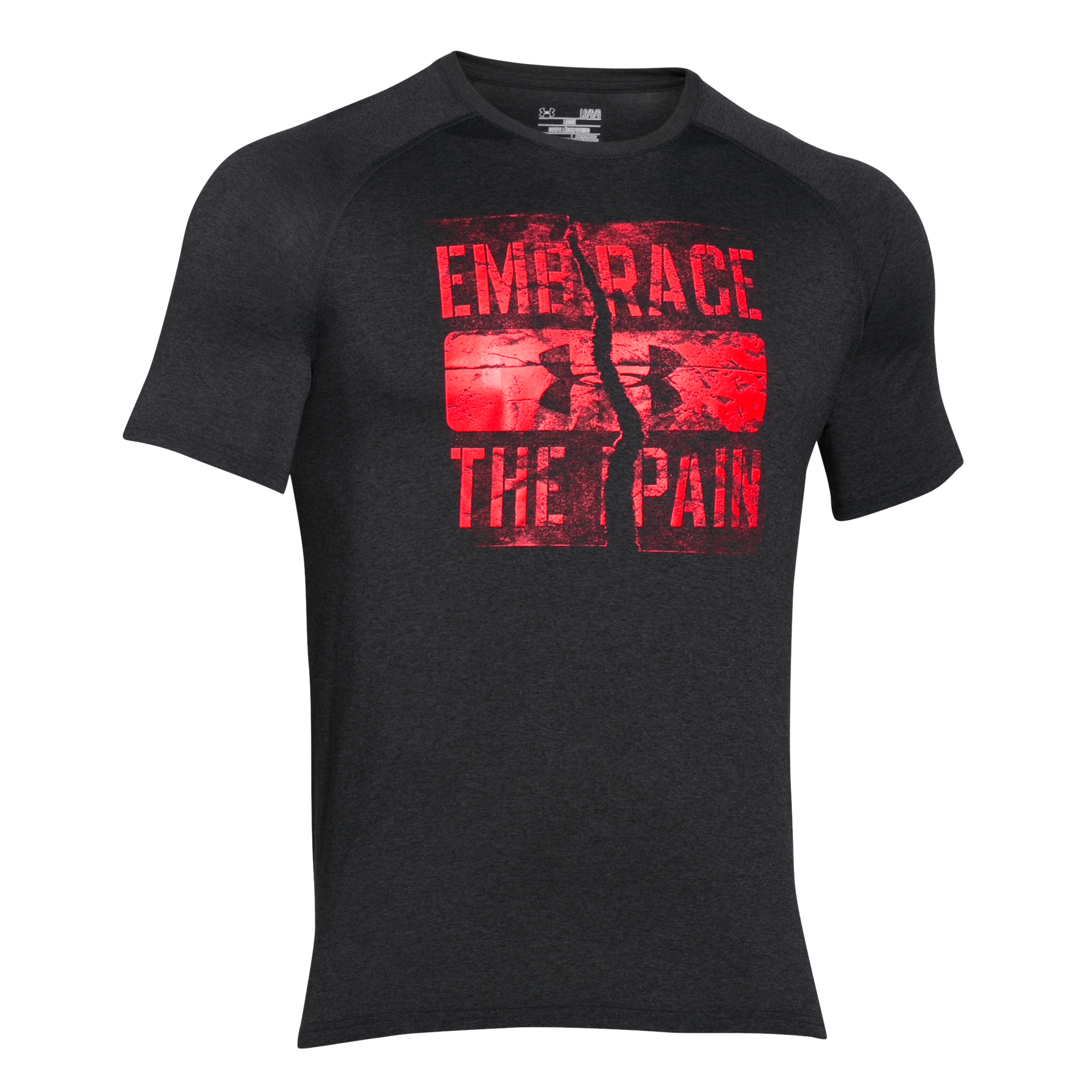 Under Armour T-Shirt Embrace the Pain grau-rot