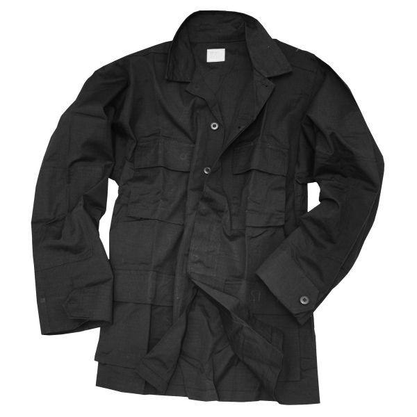 BDU Feldjacke Style schwarz Ripstop