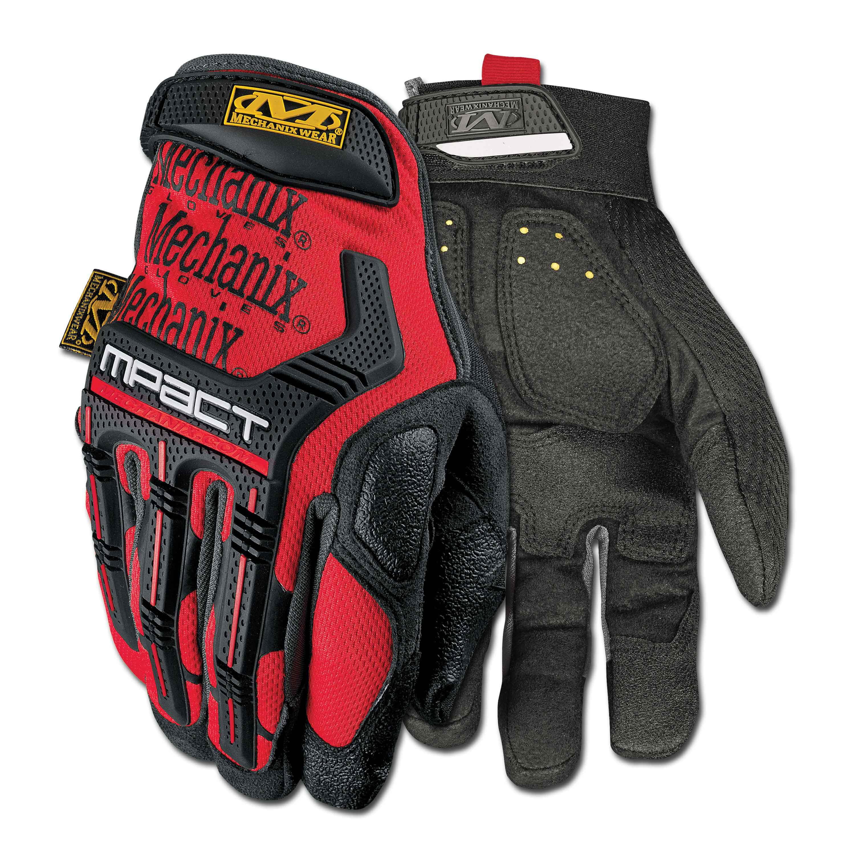 Handschuhe Mechanix Wear M-Pact rot