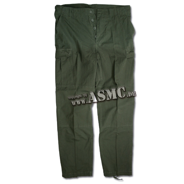Hose BDU Style oliv Ripstop washed